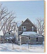 Eastern Montana Farmhouse Wood Print