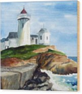 Eastern Point Light Wood Print