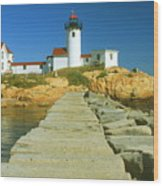 Eastern Point Lighthouse Wood Print