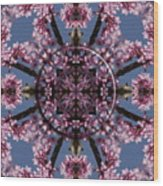 Eastern Red Bud Mandala Wood Print