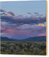 Eastern Sky At Sunset - Taos New Mexico Wood Print