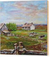Eastern Townships Quebec Country Scene Wood Print