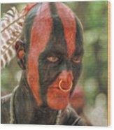 Eastern Woodland Indian Portrait Wood Print