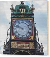 Eastgate Clock In Chester Wood Print