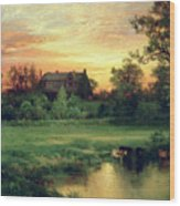 Easthampton Wood Print by Thomas Moran