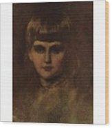 Eastman Johnson 1824-1906 Young Girl Wood Print