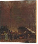 Eastman Johnson - A Different Sugaring Off Wood Print