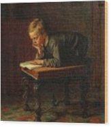Eastman Johnson - Reading Boy Wood Print