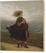 Eastman Johnson - The Girl I Left Behind Me Wood Print