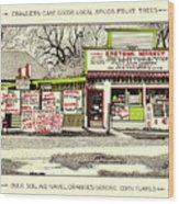 Eastside Market Wood Print