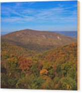 Eaton Hollow Overlook On Skyline Drive In Shenandoah National Park Wood Print
