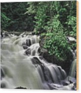 Eau Claire Gorge Water Fall Wood Print