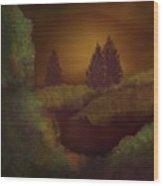 Ebony Dawn  Wood Print