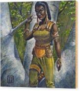 Ebony Elf Wood Print