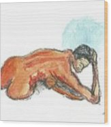 Ebony Figure 1 Wood Print