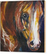 Ebony Night Equine Wood Print