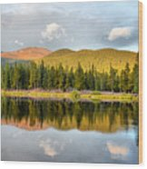 Echo Lake Painterly 1 Wood Print