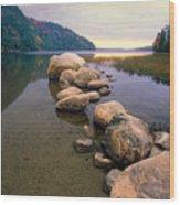 Echo Lake Sunset Wood Print by George Oze
