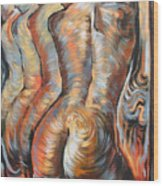 Echo Of A Nude Gesture Wood Print