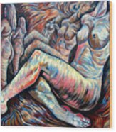 Echo Of A Nude Gesture II Wood Print