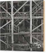Echuca Wharf Wood Print