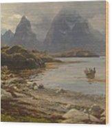 Eckenbrecher, Karl Paul Themistokles Von Athens 1842 - 1921 Goslar Norwegian Fjord Wood Print