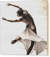Eclectic Dancer Wood Print