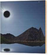 Eclips Of A Kind Wood Print