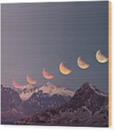 Eclipse Panorama Wood Print