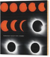 Eclipse Sequence Wood Print