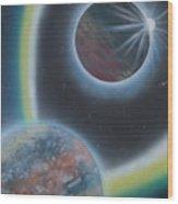 Eclipsing Wood Print