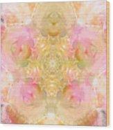 Eco Print Rose Mandala Wood Print
