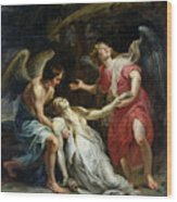 Ecstasy Of Mary Magdalene Wood Print