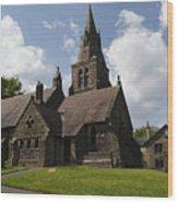 Edale Village Church Wood Print