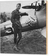 Eddie Rickenbacker - Ww1 American Air Ace Wood Print