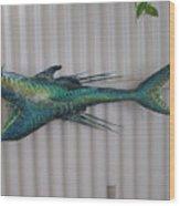 Eddie The Shark Wood Print