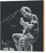 Eddie Vedder Playing Live Wood Print