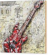 Eddie's Guitar 3 Wood Print