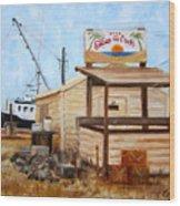 Eddies On The Creek Belford Nj Wood Print