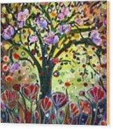 Eden Garden Wood Print