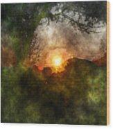 Edens Sunrise Wood Print