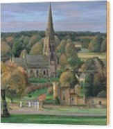 Edensor - Chatsworth Park - Derbyshire Wood Print