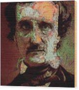 Edgar Allan Poe Artsy 2 Wood Print