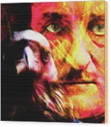 Edgar Allan Poe The Eyes Of The Ravens 20160430 V3 Square Wood Print