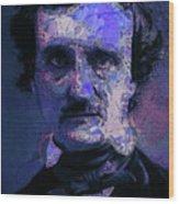 Edgar Allan Poe, Artsy 1 Wood Print