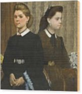 Edgar Degas - The Bellelli Sisters Giovanna And Giuliana Bellelli Wood Print