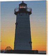 Edgartown Harbor Light Sunrise IIi Wood Print