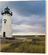 Edgartown Lighthouse Cape Cod Wood Print