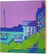 Edgartown Porches Wood Print