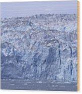 Edge Of A Huge Glacier In Alaska Wood Print